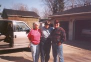 Barb, with George and Joyce Wilks